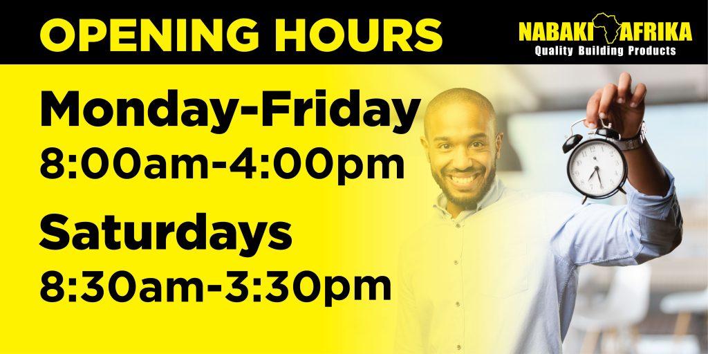 Nabaki Afrika Tanzania Opening Hours